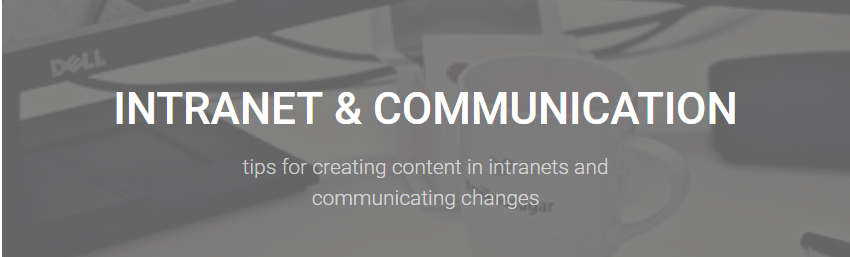 Intranet & Communication header image